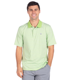 Peabody Stripe Polo - Jade Lime