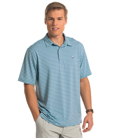 Perdido Stripe Polo - Barnacle