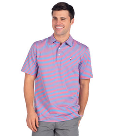 Perdido Stripe Polo - Blue Strawberry