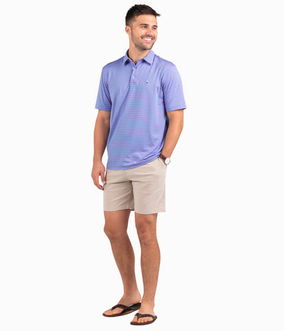 Perdido Stripe Polo - Man O' War