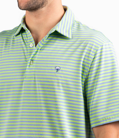 Perdido Stripe Polo - Tide Pool