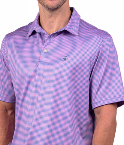 Sandhill Gingham Polo - Blue Coral