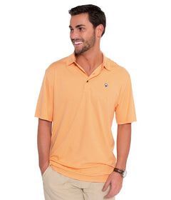 Shearwater Stripe Polo - Coral Reef