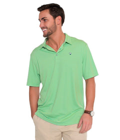 Shearwater Stripe Polo - Sunny Lime