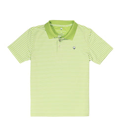 Youth Peabody Stripe Polo - Jade Lime