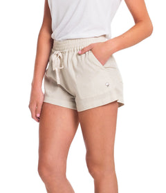 Lightweight Tencel Short - Taupe