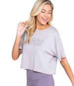 Comfy Cropped Fleece - Opal Gray