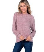 Dreamluxe Sweater - Washed Red