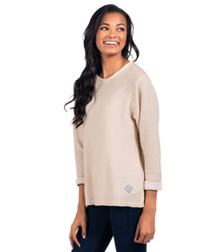 Knobby Knit Sweater - Creme Brulee