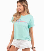 Aloha SS Tee - Beach Glass