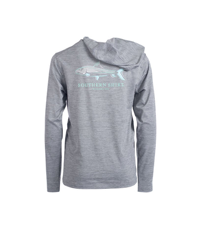 Boys Performance Hoodie LS - Quarry