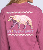 Colorful Bear LS - Antique Rose