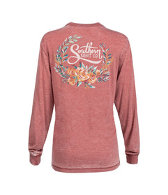 Forest Florals LS - Faded Rose