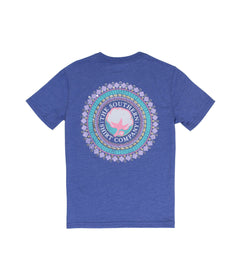 Girls Foil Gem Logo SS - Radiant Blue