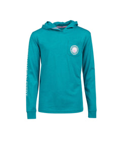 Girls Heather Hoodie LS - Palisade Blue