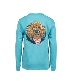 Girls Molly Doodle LS - Maui Blue