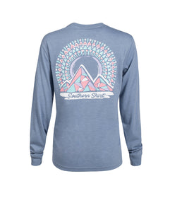 Mosaic Mountains LS - Country Blue
