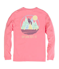 Patch Mountains LS - Salmon Rose