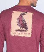 Quail Run Tee LS - Oxen Red