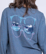 See What's Out There Tee LS - Blue Night