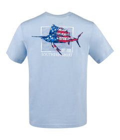 Stars and Stripes SS - Chambray Blue