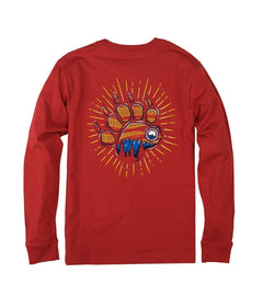 Youth Bearly There LS - Pompeii Red