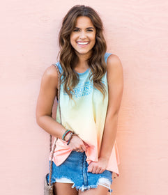 Ombre Swing Tank - Sunset