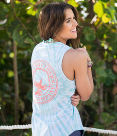 Salt Washed Tie Dye Tank - Ice Green