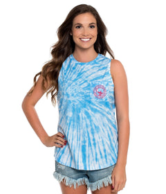 Salt Washed Tie Dye Tank - Little Boy Blue