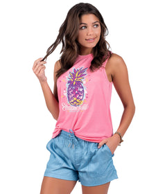 Vintage Burnout Tank - Pink Lemonade