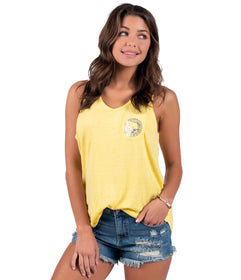 Vneck Katy Tank - Yellow Cream