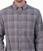 Braxton Lightweight Cord Flannel LS - Mountain Ash
