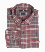 Collins Heather Flannel LS - Redwood