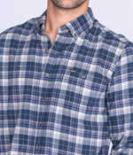 Riverchase Heather Flannel LS - Estate Blue
