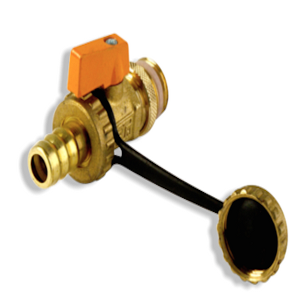 Solar Thermal Drain off / Fill valve - single