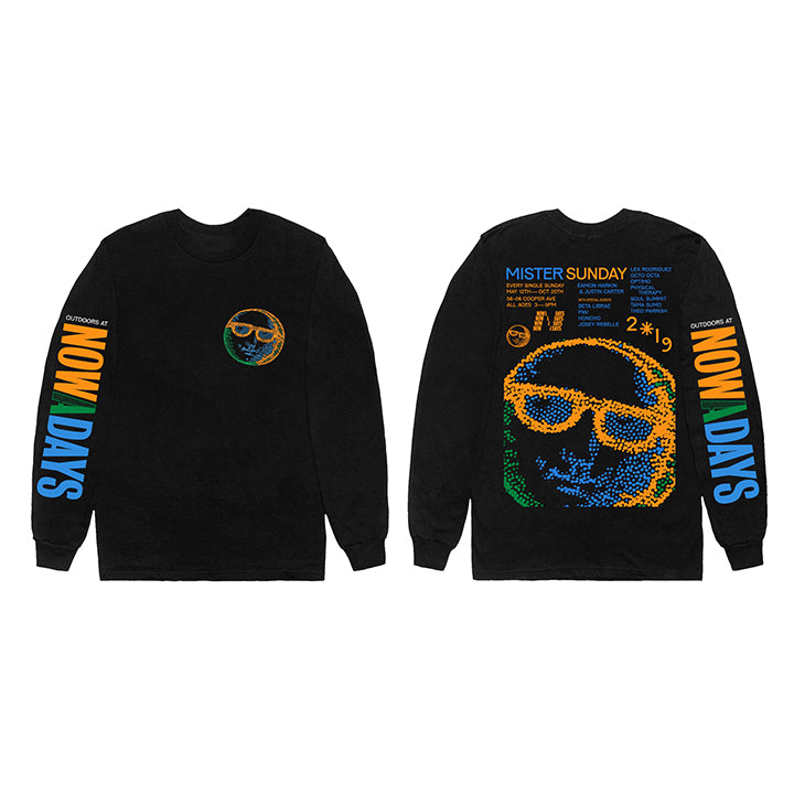 Mister Sunday Long Sleeve Tee - Black