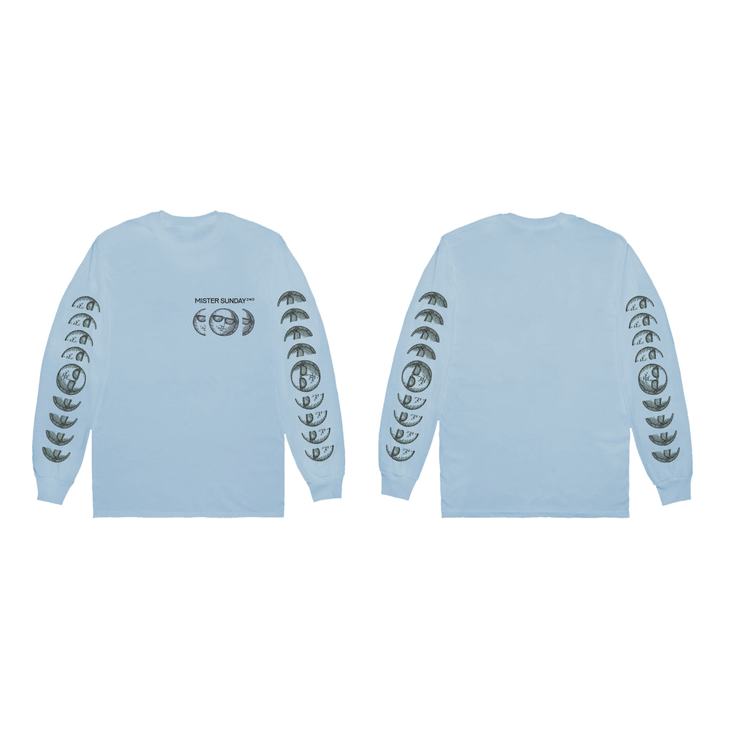 Mister Sunday Long Sleeve Tee - Light Blue