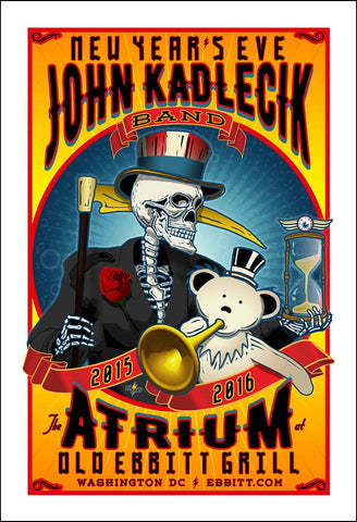 2015 Limited Edition John Kadlecik Band New Year's Eve Concert Poster