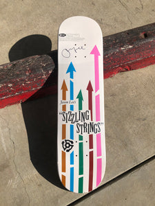 "Vintage Vinyl: Jason Lee  SIGNED ""Sizzling Strings"" deck (2004)"