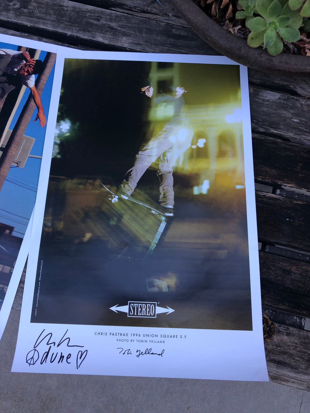 Chris Pastras Signed 11x17 Poster