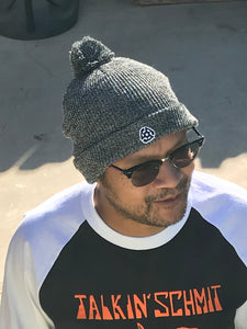 "45 RPM ""Pom Pom"" Heather Grey Beanie"
