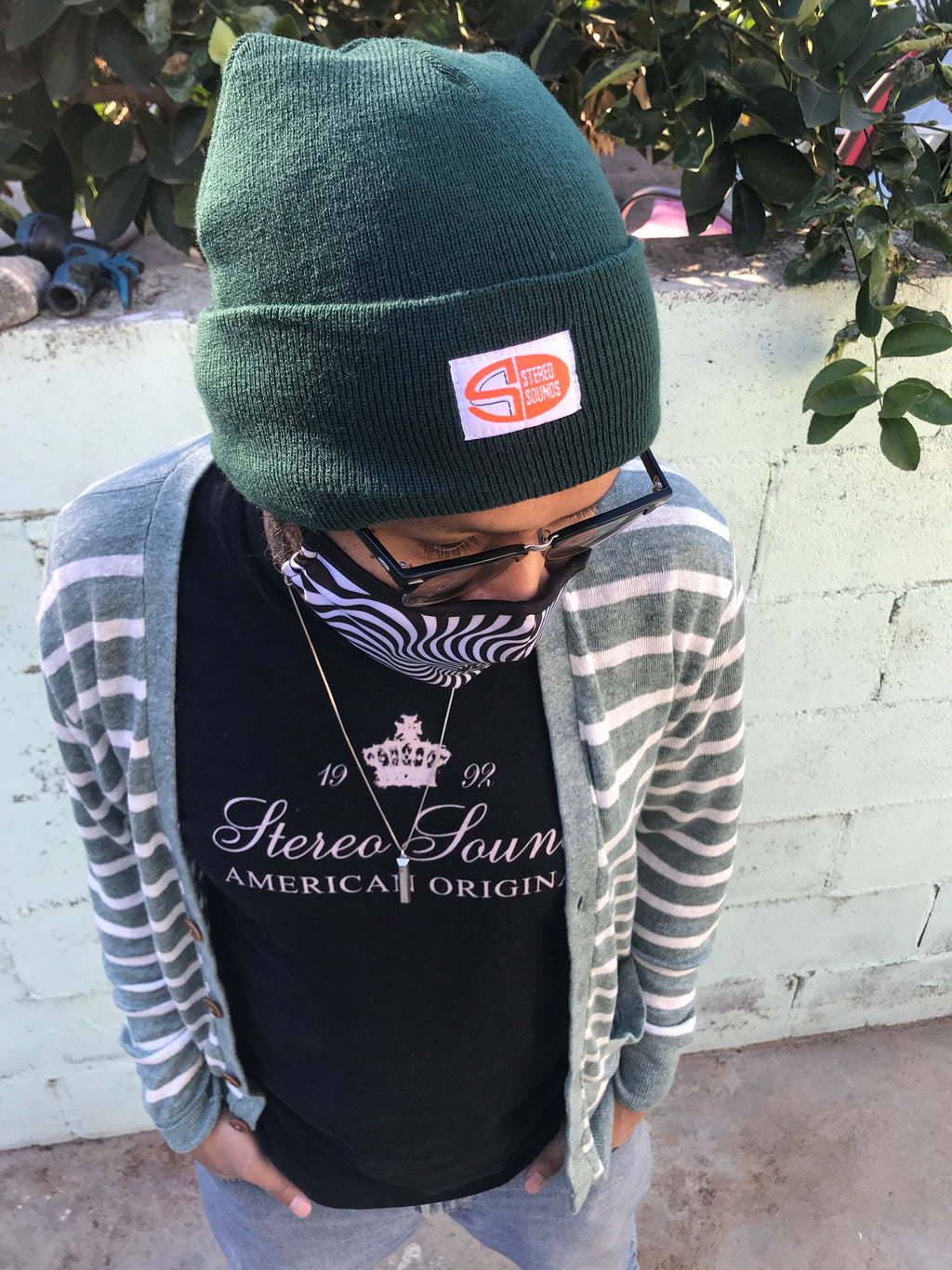 "Stereo Sound ""Oval Logo"" Label Beanie - Forest Green"