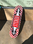 SIGNED Checkered Red Arrows 8.0""