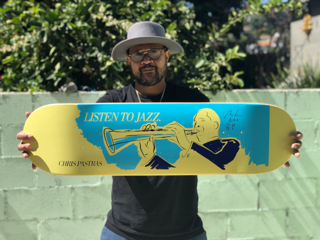 "NEW: SIGNED Chris Pastras ""Listen To Jazz"" 8.5"""