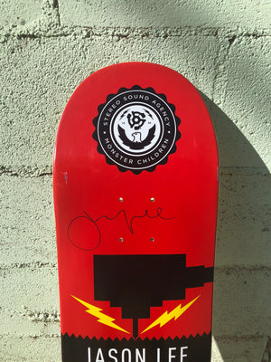 "Vintage Vinyl:SIGNED and RARE 8"" Stereo X Monster Children collaboration board."