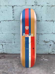 "Vintage Vinyl: Signed Jason Lee ""Stripes"" deck, 2014."