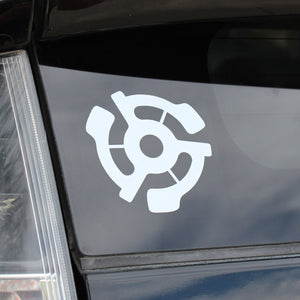 Stereo 45 adapter decal - White