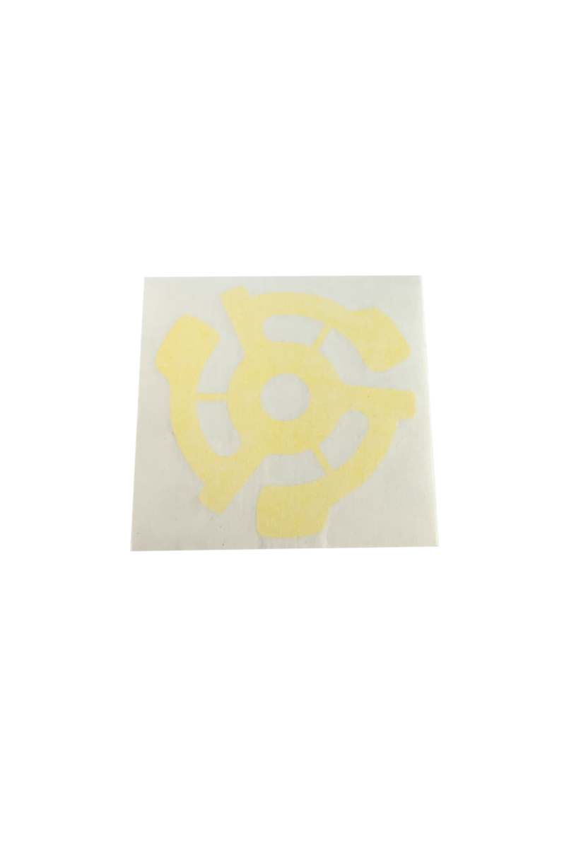Stereo 45 adapter decal - Yellow