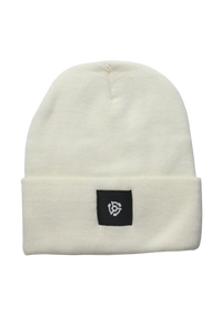 Square Label Beanie - Natural