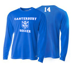 Mens A4 Long Sleeve <br /> Carolina Blue Tee <br />  (CantMSoccer)